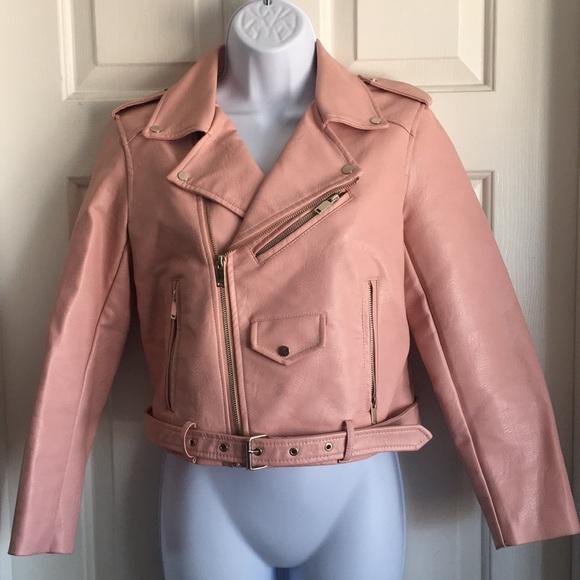 Zara pink biker jacket